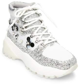 Betsey Johnson Abel Embellished Platform Sneaker