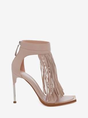 Alexander McQueen Pin Heel Fringe Sandal