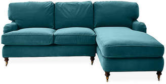 Robin Bruce Brooke Right-Facing Sectional - Peacock Crypton