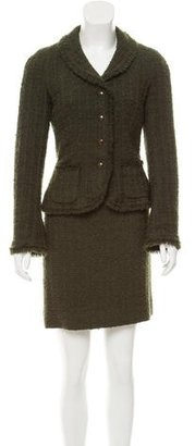 Moschino Cheap and Chic Wool Tweed Skirt Suit $125 thestylecure.com
