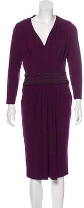Alberta Ferretti Knit Midi Dress