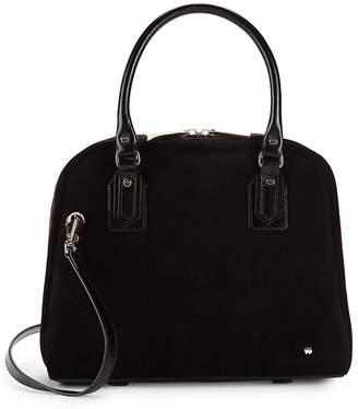 Halston Small Suede Top Handle Bag
