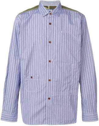 Junya Watanabe stripe panelled shirt
