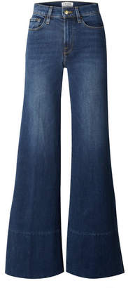 Frame Le Palazzo High-rise Wide-leg Jeans - Dark denim
