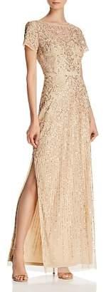 Aidan Mattox Embellished Column Gown