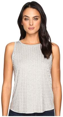 Three Dots Studded Tank Top Women's Clothing