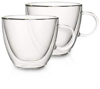 Villeroy & Boch Set of Two Large Glass Mugs