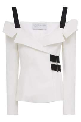 Amanda Wakeley Harmony Off Shoulder Ecru Tailored Jacket