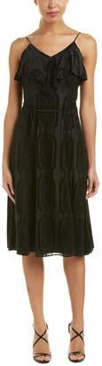 Shoshanna Silk-Blend Midi Dress