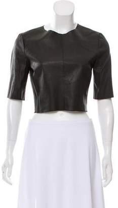 A.L.C. Leather Crop Top