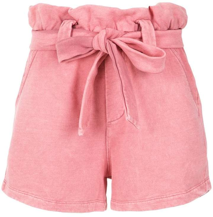 Olympiah high waist belted shorts