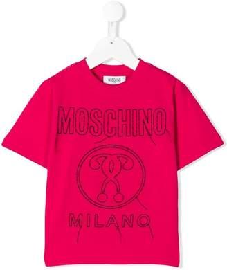 Moschino Kids logo stitch T-shirt