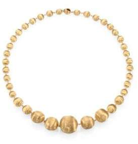 Marco Bicego Women's Africa 18K Yellow Gold Graduated Ball Necklace - Yellow Gold