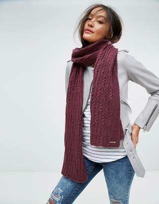 Alice Hannah Cable Knit Scarf