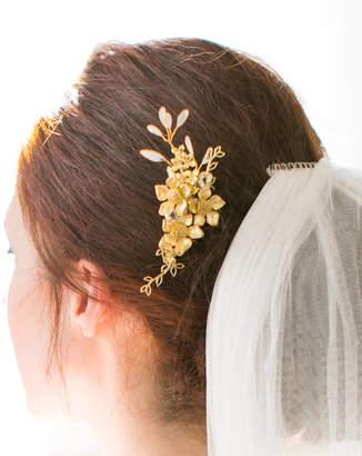 Victoria Millesime Gold Dust Grecian Tendril Bridal Hair Comb