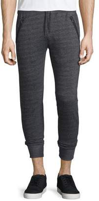 John Varvatos Star USA Textured Knit Drawstring Jogger Pants, Black $198 thestylecure.com