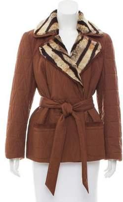 Salvatore Ferragamo Fur-Trimmed Quilted Jacket