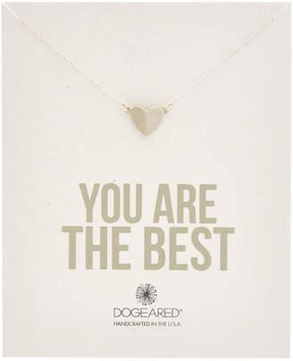 Dogeared Silver Peak Heart Necklace