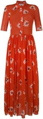 Ganni flared floral maxi dress