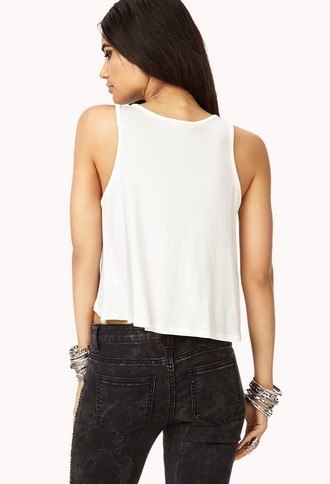 Forever 21 Sweet Love Trapeze Tank