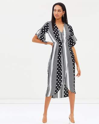 Atmos & Here Santana Wrap Midi Dress