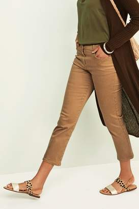 Next Womens Sand Soft Touch Cropped Jeans - Natural