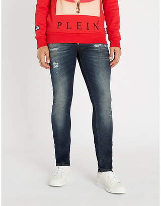 Philipp Plein Ripped slim-fit tapered jeans