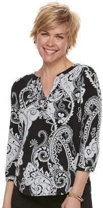Dana Buchman Women's Knit Henley Top