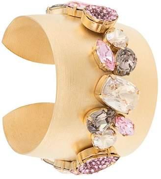 Melissa Kandiyoti embellished wide bangle bracelet