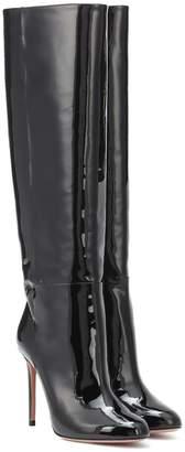 Aquazzura Brera 105 leather knee-high boots