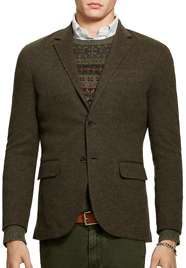 Polo Ralph LaurenPolo Ralph Lauren Double-Knit Cotton-Wool Blazer
