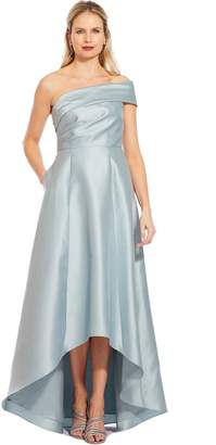 Adrianna Papell Aqua Dust Mikado Maxi Dress