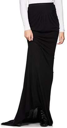 Rick Owens Women's Draped Jersey Maxi Skirt - Black