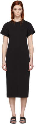 3.1 Phillip Lim Black Shoulder Slit T-Shirt Dress