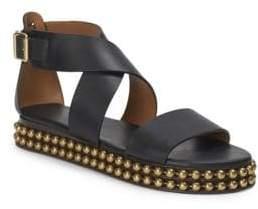 344c574440ef Sawyer Studded Leather Wrap Gladiator Sandals