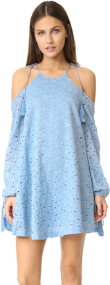 J.O.A. Cold Shoulder Lace Dress $95 thestylecure.com