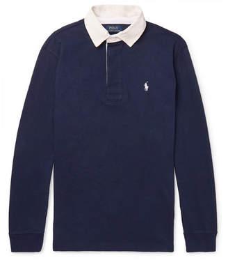 Polo Ralph Lauren Contrast-Trimmed Cotton-Jersey Polo Shirt