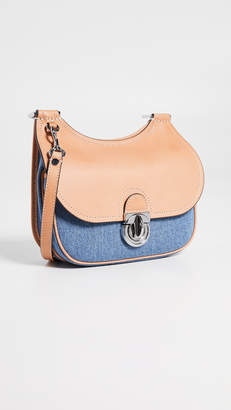 Tory Burch James Small Denim Saddle Bag