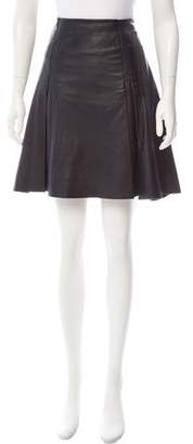 Ohne Titel Leather A-Line Skirt