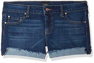 "Celebrity Pink Jeans Women's 3"" Mid Rise Fray Cuff Denim Short"