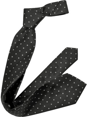 Forzieri Outlined Diamond Pattern Woven Silk Tie