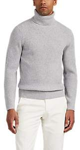 P. Johnson Men's Merino Wool-Cashmere Turtleneck Sweater - Light Gray