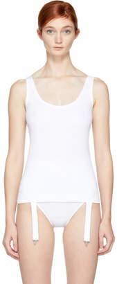Marieyat White Niina Suspenders Tank Top