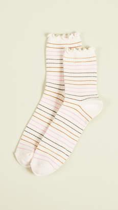 Madewell Simple Stripe Lettuce Socks