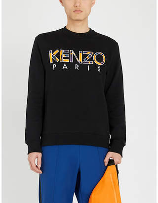 Kenzo Logo-embroidered cotton sweatshirt