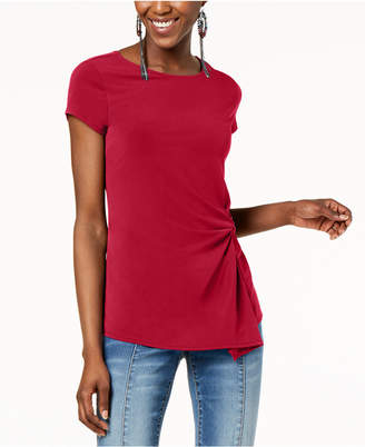INC International Concepts I.N.C. Twist-Front Asymmetrical Top, Created for Macy's