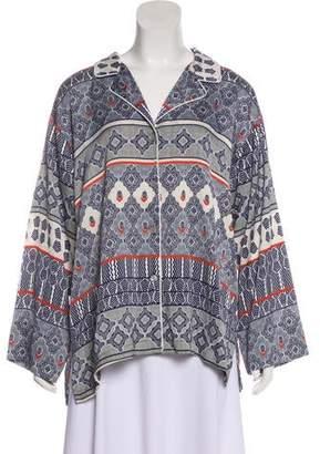 Natori Printed Long Sleeve Pajama Top