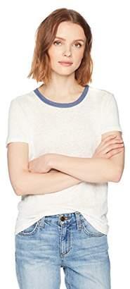 Stateside Women's Linen Short Sleeve Crew