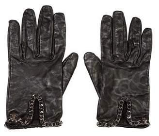 Chanel Lambskin Camellia Gloves