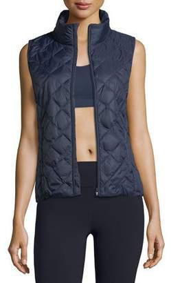 Tory Sport Zip-Front Packable Down Vest